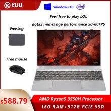 15.6 inch  AMD Ryzen5 3550H Processor IPS Screen 16GB RAM DDR4 256G 512G PCIe SSD Windows 10 Vega 8  Gaming Laptop for LOL Dota