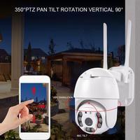 8LED Penuh Warna Hari Malam Lampu 360 Derajat Berputar Nirkabel Outdoor Kamera IP66 Tahan Air 2.5 Inci Bola Dome IP Camera