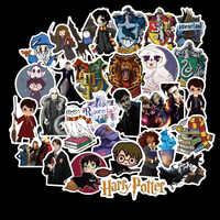Paquete de 50 Uds Potter PVC Harry pegatinas para niños equipaje monopatín Laptop películas de dibujos animados pegatina para niños