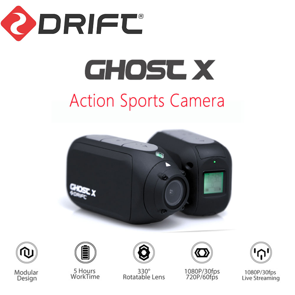 Câmera de Ação Esporte Camera Fantasma Deriva originais X 1080P Motocicleta Mountain Bike Bicicleta Capacete Câmera HD Cam com WiFi