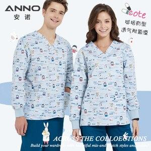 Image 4 - ANNO Krankenhaus scrubs Set Pflege Einheitliche für Männlich weibliche Liefert Dental Klinik Krankenschwester Scrubs Frauen SPA Uniformen
