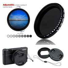 Variabile Filtro ND ND2 400 Densità Neutra e anello Adattatore lens cap keeper per Sony RX100 Mark VII VI V VA IV III II I Macchina Fotografica