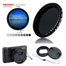 Variable ND Filter ND2 400 Neutral Density & Adapter ring lens cap keeper for Sony RX100 Mark VII VI V VA IV III II I Camera