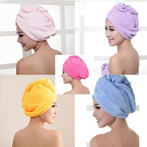 Women Microfiber Bath Towel Hair Quick Drying Towel shower Cap Hat Turban Head Wrap Bathing Tools For Lady