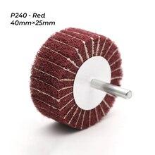 Абразивная Швабра P120/P240, нетканый Полировочный круг с откидной крышкой, 6 мм, хвостовик для удаления ржавчины и заусенцев, чистящая головка
