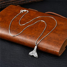 Korean version 100% sterling silver 925 necklace Whale tail Pendant chain chain ladies necklace Prata925 fashion jewelry(China)