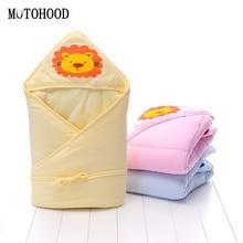 MOTOHOOD Winter Baby Boys Girls Blanket Wrap Cute Lion Baby Swaddle Sleeping Bag For Newborns Baby Bedding Crib Kids Product