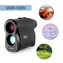 600/900 м лазерный дальномер для гольфа и охоты, цифровой монокулярный лазерный измеритель расстояния, измеритель скорости, лазерный дальномер