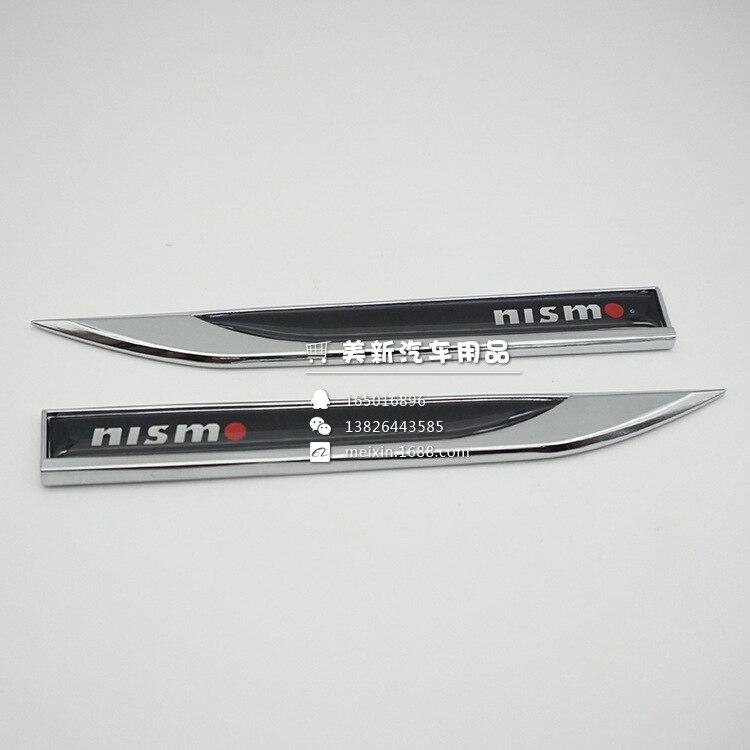 Label Fender Car-Logo Wind-Blade Nissan Sima Modified-Side-Seam XY Nismo Teana Standard