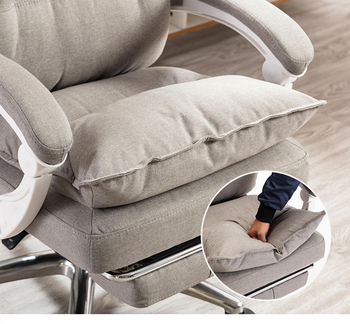 Baumwolle Stoff Büro Stuhl Computer Stuhl Liegend Und Hebe Mitarbeiter Sessel Mit Fußstütze Freies Verschiffen