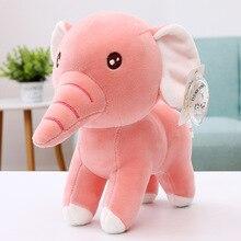 купить New cartoon rainbow elephant baby love soft plush toy pillow cute baby toy animal shape pillow doll по цене 471.55 рублей