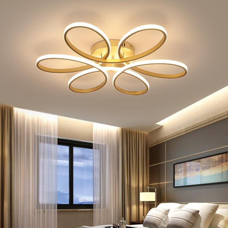 Modern Golden Re Led Chandelier, Modern Led Chandeliers For Bedroom