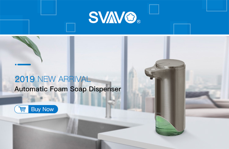 H9e77949beb364ba6b4bbf37a459868eb8 350ml Automatic Soap Dispenser Hand Free Touchless Sanitizer Bathroom Dispenser Smart Sensor Liquid Soap Dispenser for Kitchen