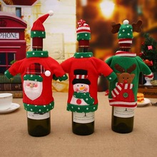 Felt Gnome Christmas Wine Bottle Cover 2020 New Years Decoration Topper Table On