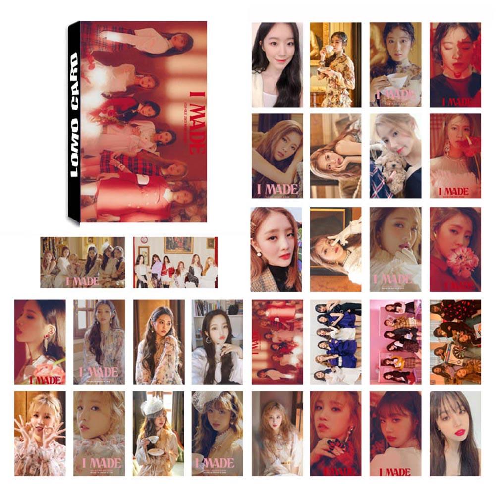 30Pcs/set KPOP GIDLE Girls Team Album Senorita Photo Card PVC Cards Self Made LOMO Card Photocard