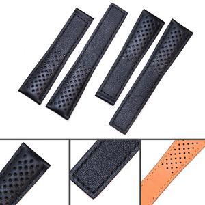 Image 5 - Pesno حقيقية حزام جلد العجل الجلد جلد حزام (استيك) ساعة أسود الرجال ووتش اكسسوارات مناسبة ل تاغ هوير موناكو