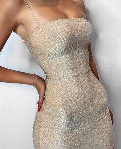 Image 5 - Женское Короткое облегающее платье Chrleisure, пикантное обтягивающее мини платье на тонких лямках, для ночного клуба, на лето