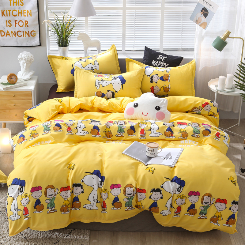 Dropshipping Bedding Sets Duvet Cover3/4pcs Cartoon New Fashion Bed Sheets S  Gifts For Children