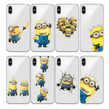 Cute Funny Yellow Minion Despicable Me Cartoon Cover Soft Silicone Phone Case for iPhone 5 5S SE X 8 7 6 6S Plus X XS MAX XR снегокат snow moto minion despicable me yellow 37018
