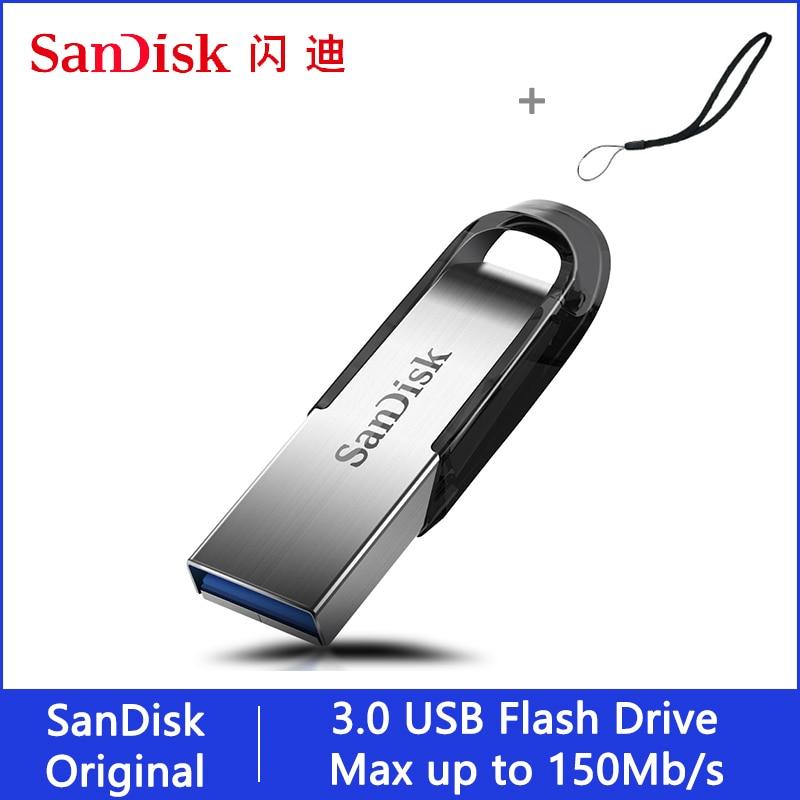 Sandisk, unidad Flash USB, 32, 64, 128, 16 GB, Pendrive de 128gb, 64gb, 32gb, unidad 256gb, lápiz USB 3,0 en memoria de llave para teléfono|Unidades flash USB|   - AliExpress