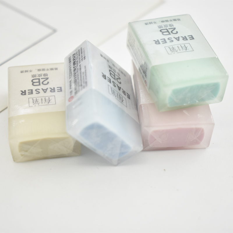1PC Creative 2B Erasers Cute Jelly Rubber Erasers Kawaii Strip Pencil Erasers For Kids School Office Supplies Stationery