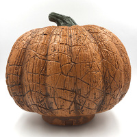 Plastic Pumpkin with LED Light for Harvest Home and Garden Halloween Decorations