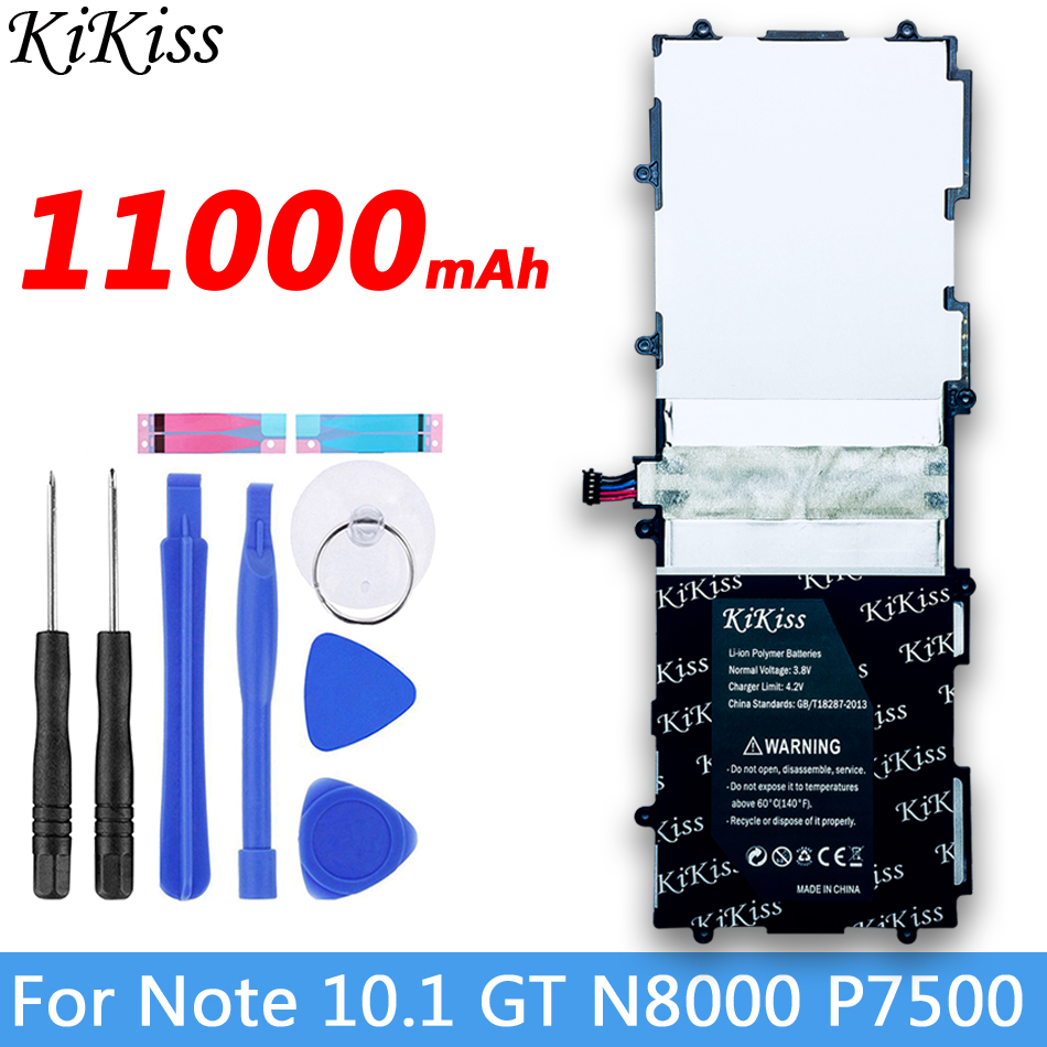 11000mAh Highly Battery SP3676B1A For <font><b>Samsung</b></font> Galaxy Tab Note 10.1 S2 <font><b>gt</b></font> N8000 N8010 N8020 N8013 <font><b>P7510</b></font> P7500 P5100 P5110 P5113 image