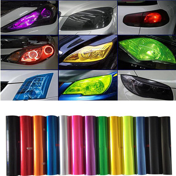 13 Colors Car Light Headlight Taillight Tint Vinyl Film For BMW F30 F10 E60 E90 E36 E34 E39 E91 E92 E46 E53 E38 E65 E70 X3 M3 image