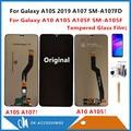 Para samsung galaxy a10 a105 a105f SM A105F/a10s 2019 a107 a107fd display lcd + sensor de tela toque digitador vidro com kits LCDs de celular     -