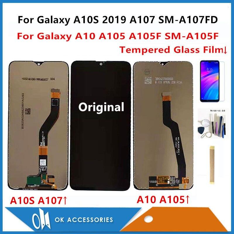 Pour Samsung Galaxy A10 A105 A105F SM-A105F/A10S 2019 A107 SM-A107FD SM-A107DS écran LCD + numériseur d'écran tactile avec des Kits