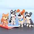 Кубики для сборки домашних питомцев, экспертные идеи, милая мультяшная собака, Moc Moduler, фигурка из блоков, Миниатюрная игрушка в виде хаски