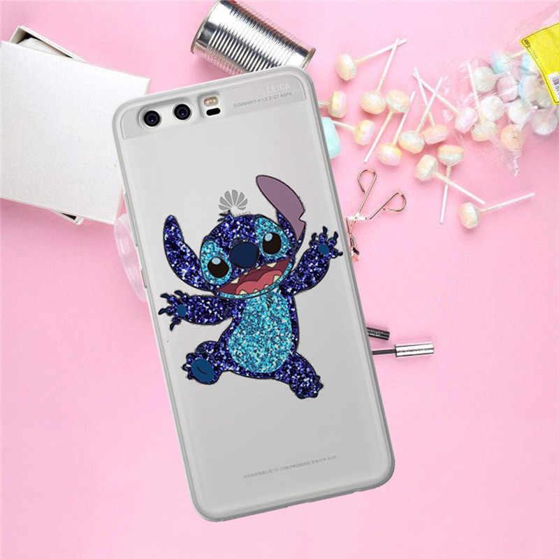 Dikiş Karikatür Huawei Mate 9 Için 10 20 P8 P9 P10 P20 P30 P Akıllı Lite Artı Pro telefon kılıfı Kapak coque Etui funda moda hediye