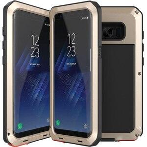 Image 5 - Zware Bescherming armor Metal Aluminium telefoon Case Voor Samsung Galaxy S9 S8 Plus S4 S5 S6 S7 rand Note 8 5 4 Shockproof Cover