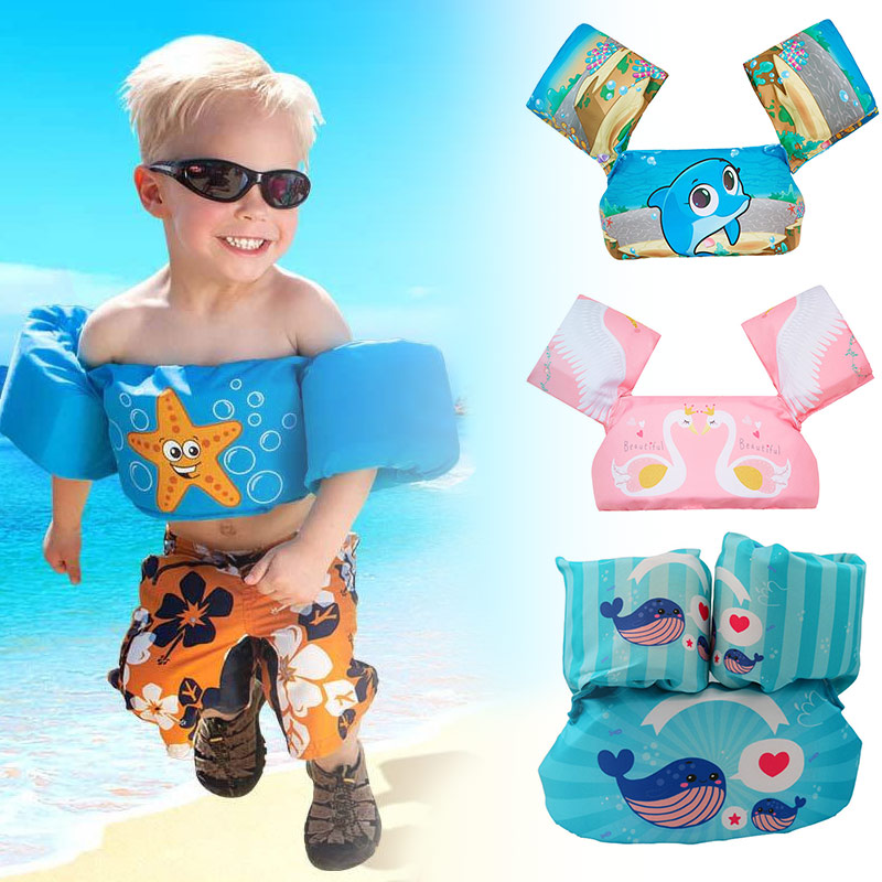 Kids Armband Dual Airbags Summer Water Practical Animal Cool Pool Safe Dolphin Light Swimming Cute Inflatable Arm Circles