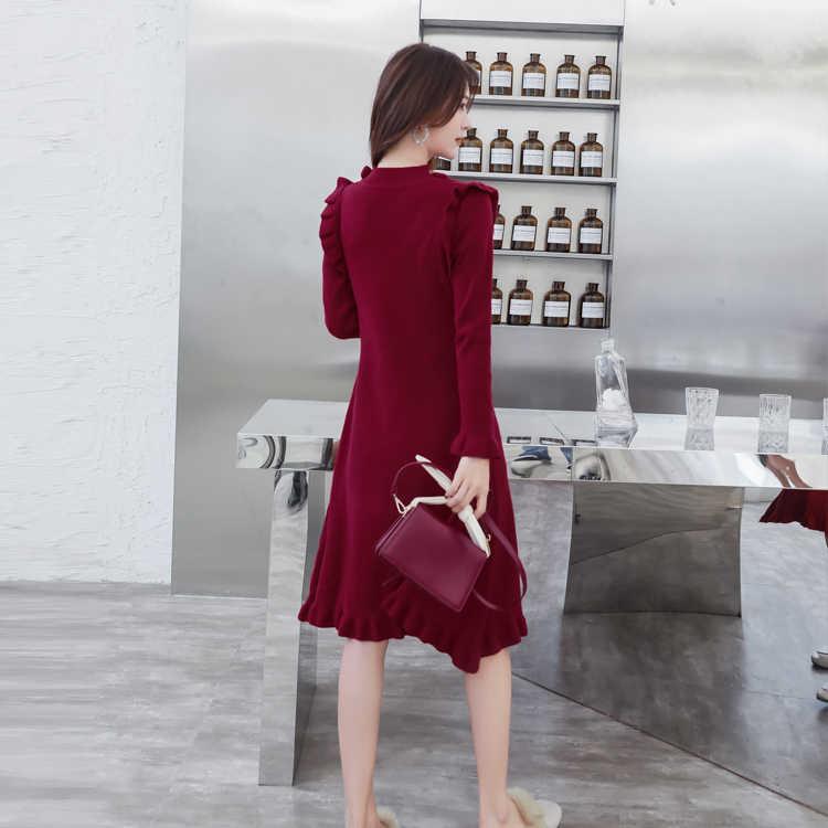 2020 משלוח חינם חדש הגעה באיכות גבוהה O צווארון חבילת ישבן סקסי נשים שמלת סריגה שמלה