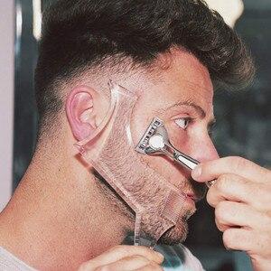 Image 5 - חדש כניסות גברים זקן עיצוב סטיילינג מסרק תבנית שקוף גברים של זקנים קומבס יופי כלי שיער זקן Trim תבניות