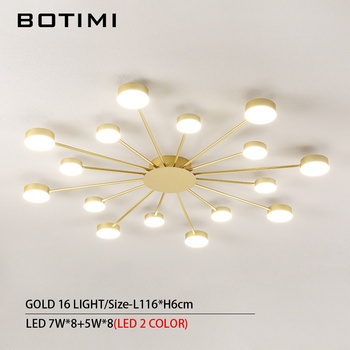 BOTIMI Novelty Metal Irregular Ceiling Lights For Foyer Black Ceiling Lamp Golden Surface Mounted Bedroom Lighting Fixture 9
