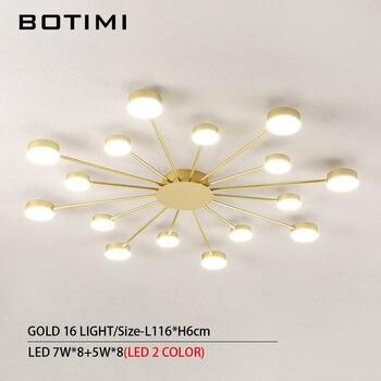 BOTIMI Novelty Metal Irregular Ceiling Lights For Foyer Black Ceiling Lamp Golden Surface Mounted Bedroom Lighting Fixture 9
