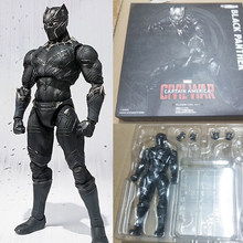 Pantera negra figura de ação brinquedo figura pantera negra boneca presente para crianças