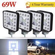 69W Car LED Bar WorkLight Driving Lamp Offroad Boat Tractor Truck LED Work Light 4x4 SUV Fog Light 12V 24V Headlight ATV