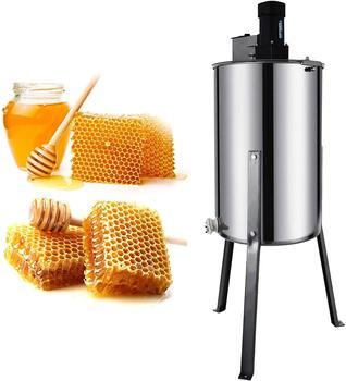 VEVOR miodarka elektryczna 2 rama ze stali nierdzewnej o strukturze plastra miodu korba miód pszczeli wirówka sprzęt pszczelarski