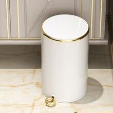 Poubelle nordique étanche en acier inoxydable, poubelle de cuisine de luxe, salon, produits ménagers, DG50WB