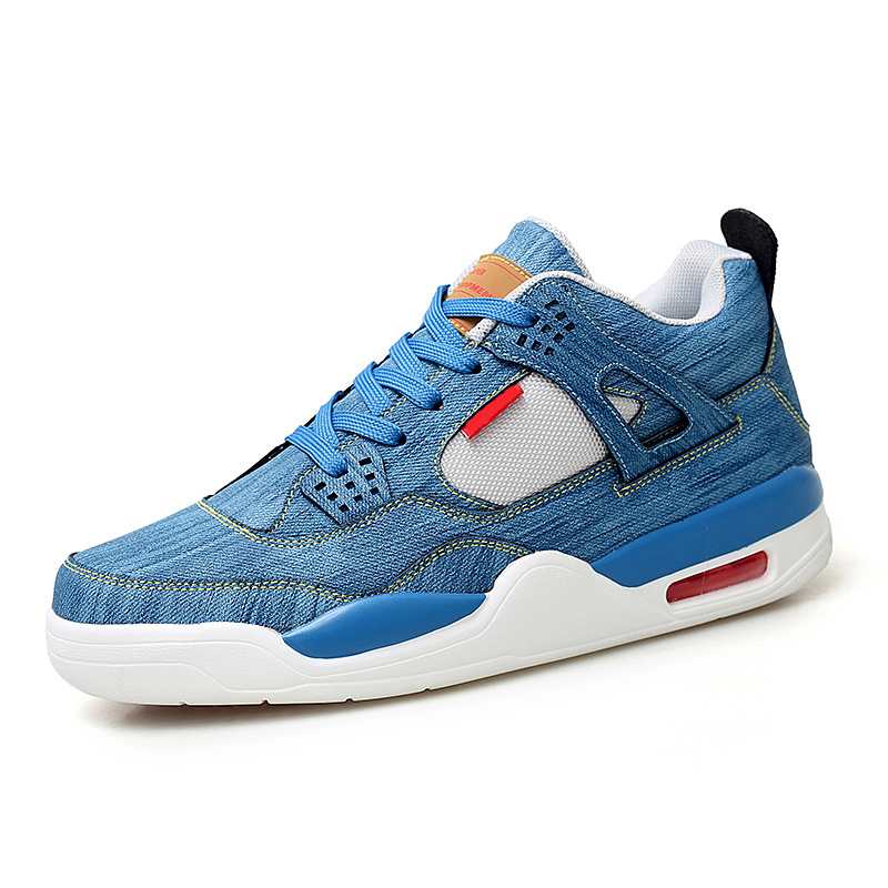Hot Sale Jean Breathable <font><b>Air</b></font> Sole <font><b>Jordan</b></font> <font><b>4</b></font> Basketball Shoes Men Platform <font><b>Jordan</b></font> <font><b>Retro</b></font> Basketball Sneakers Men zapatillas <font><b>jordan</b></font> image