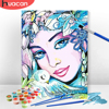 HUACAN Painting By Number Flower Girl Drawing On Canvas HandPainted Gift Kits Wall Art DIY Pictures By Number Figure Home Decor