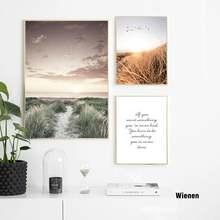 Травяное поле семейный плакат в скандинавском стиле настенный