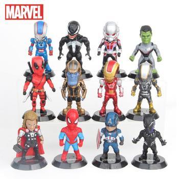 Disney Marvel Avengers Iron Man Spiderman pantera Thor Hulk Thanos Ant lalka człowiek zabawkowe figurki samochodowe narzędzie do dekoracji ciast 12 sztuk zestaw tanie i dobre opinie Model CN (pochodzenie) Unisex none 7-10cm lalki PIERWSZA EDYCJA 5-7 lat 8-11 lat 12-15 lat STARSZE DZIECI 14 lat 8 lat
