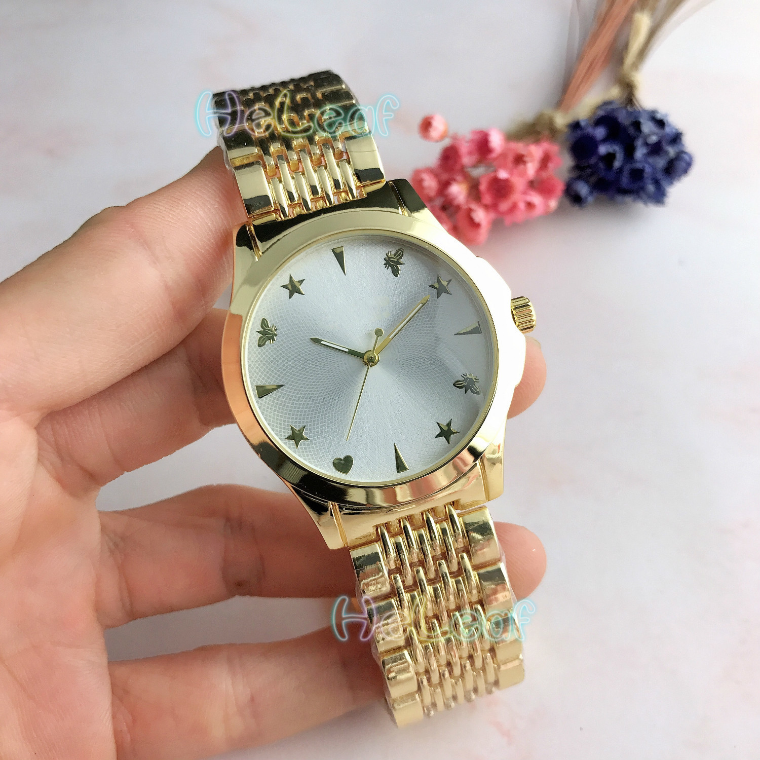 Fashion Silver Gold Stainless Brand Women Watch Quartz Wrist Watches Ladies Girls Famous Brand Female Clock Montre Femme Relogio