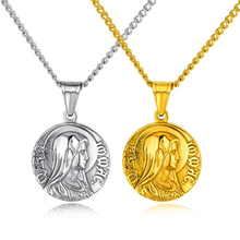 Religion Necklace 316L Stainless Steel Pendant High Polished Virgin Mary Unisex Religious Jewelry Fine Gift
