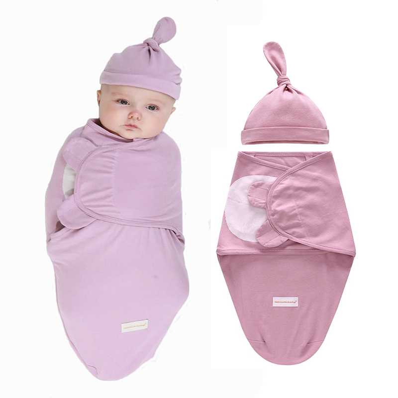Newborn baby swaddle wrap 100% cotton soft infant newborn products Blanket & Swaddling Wrap Sleepsack