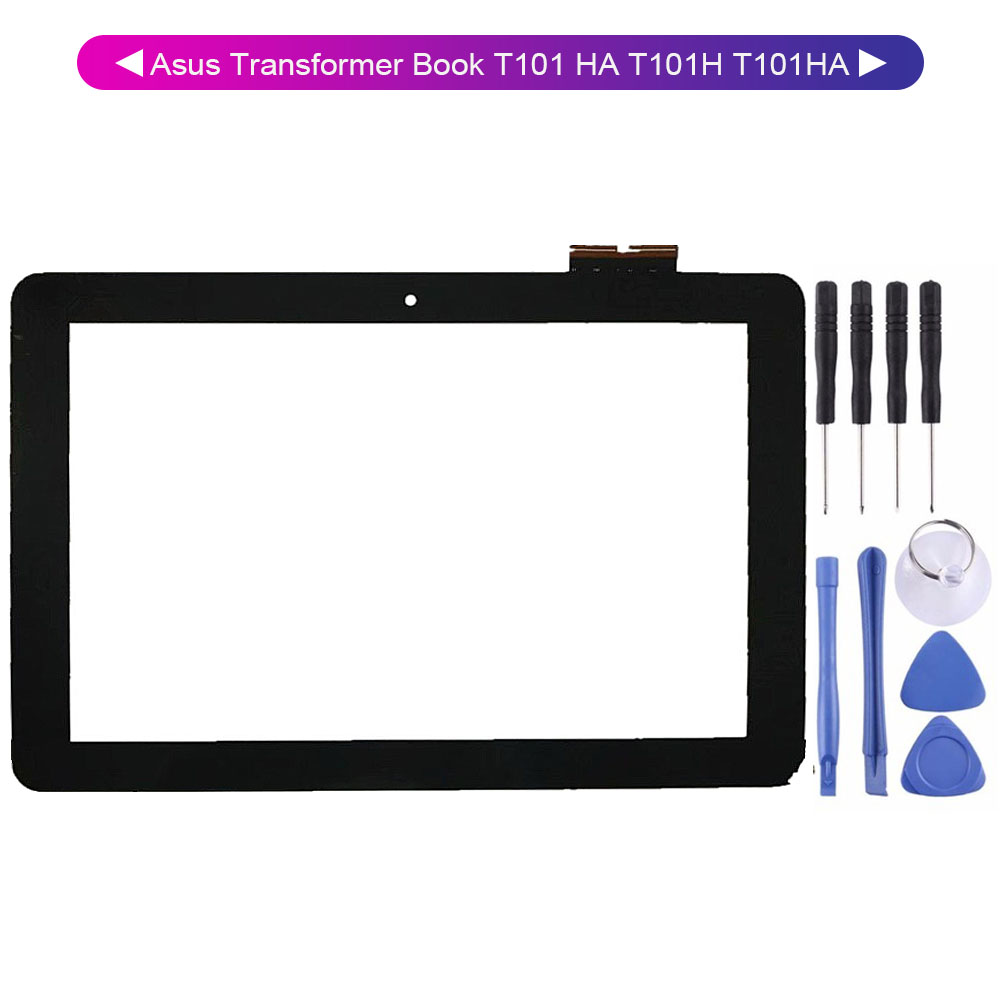 100% Test For Asus Transformer Book T101 HA T101H T101HA Touch Screen Digitizer Glass + Tools